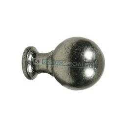 Bolknop 28mm oud zilver