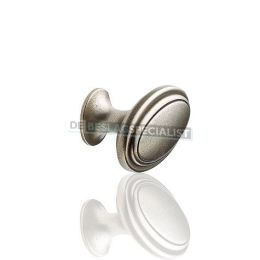 Ovale knop met rand 35X60mm H-35mm zink oxide