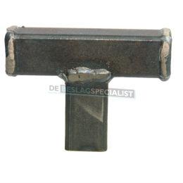 T knop zwart staal 60mm