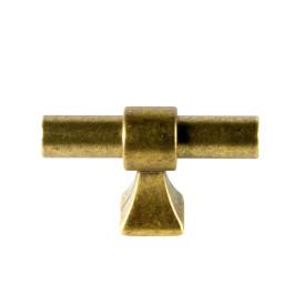 Berkhout T knop antiek brons