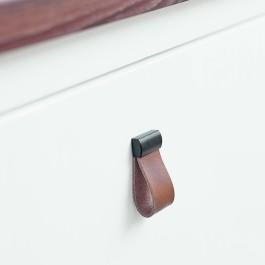 Deluxe 31x16x57mm Mat zwart / Cognac bruin
