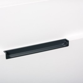 Infreesgreep achter 15x128x180mm mat zwart