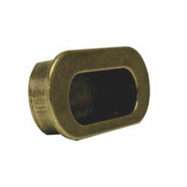 Infreeskom ovaal 64X82mm H-36mm antiek brons
