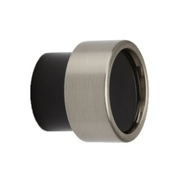Knop 35mm H-30mm RVS-look/ zwart polyester