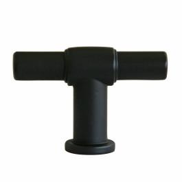 T-knop strak 55mm zwart