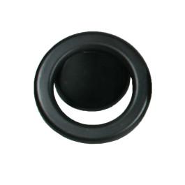 Knop ring Ø 60mm boorafstand 32mm oud zwart