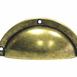 Komgreep groot 38X88 antiek brons