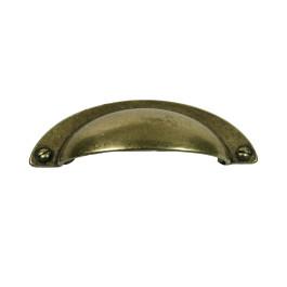 Komgreep met schroef 64X95X24mm antiek brons