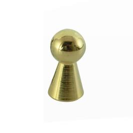 Pion knop 12mm gl. goud