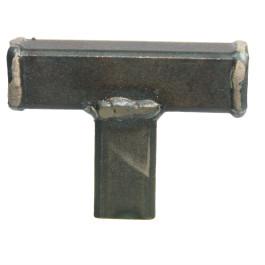 T knop gelast 15x45x60mm zwart staal