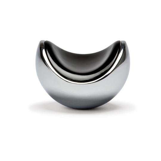 Kootwijk knop glimmend chroom/zwart