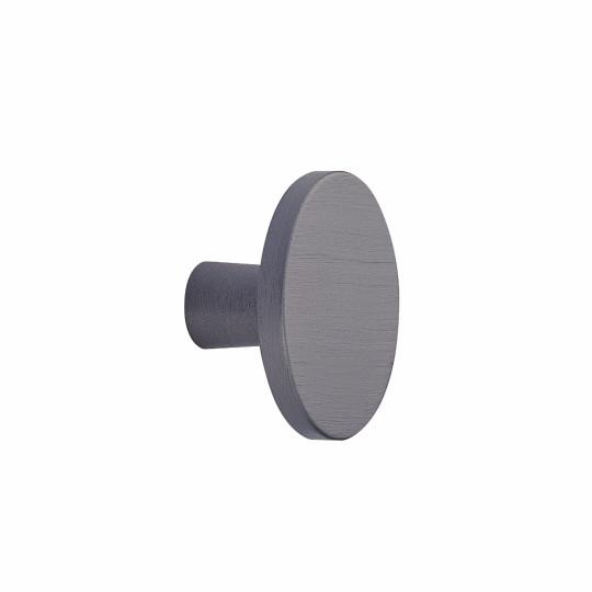 Ronde knop Ø 42mm H-24mm  aluminium antraciet geborsteld