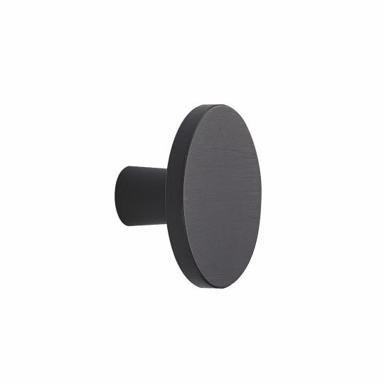 Ronde knop Ø 42mm H-24mm aluminium zwart  geborsteld